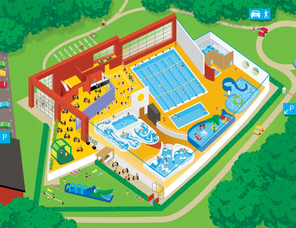 Het grondplan van S&R De Waterperels