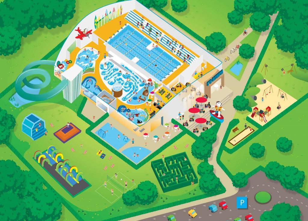 Het grondplan van S&R Olympia